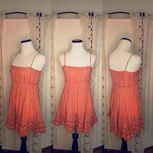 Peachy Pink Free People Mini Dress XS